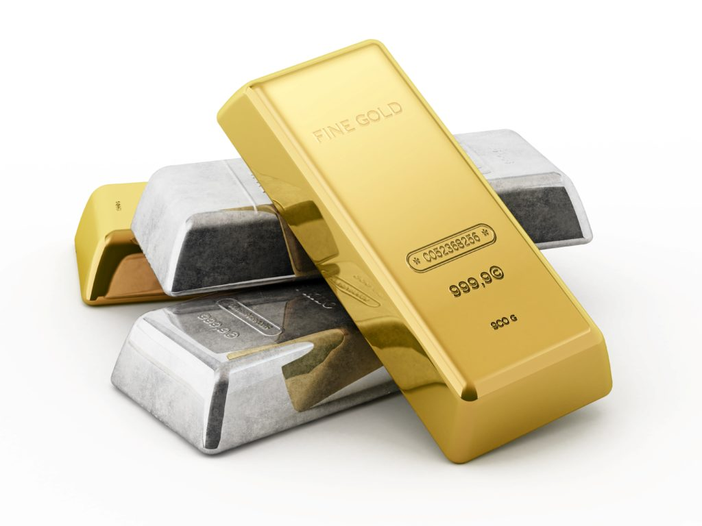 ABC Refinery ATO set of four stacked gold bars